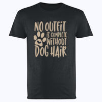 No outfit is complete without dog hair - Softstyle™ adult ringspun t-shirt Thumbnail