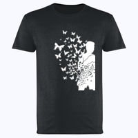 Float Like a Butterfly - Softstyle™ adult ringspun t-shirt Thumbnail