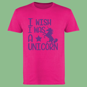 I wish I was a unicorn - Softstyle™ adult ringspun t-shirt Thumbnail