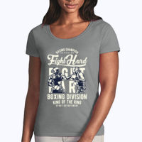 Fight Hard - Softstyle® women's deep scoop t-shirt Thumbnail