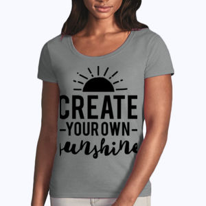 Create Your Own Sunshine - Softstyle® women's deep scoop t-shirt Thumbnail