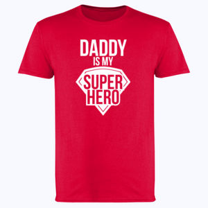 aa04bb96 Daddy is my super hero - Softstyle™ adult ringspun t-shirt. €14.99