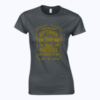 Life Begins at (Customisable) - Softstyle™ women's ringspun t-shirt Thumbnail