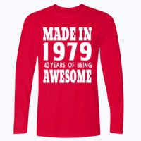 Made in (Customisable) - Softstyle™ long sleeve t-shirt Thumbnail