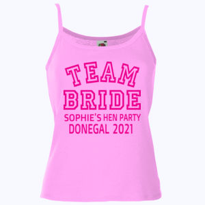 Team Bride - Lady-fit strap tee Thumbnail