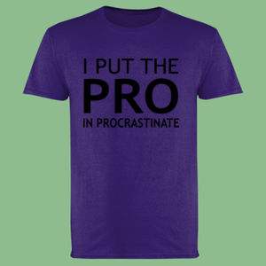I Put The Pro In Procrastinate - Softstyle™ adult ringspun t-shirt Thumbnail