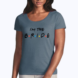Friends Style - I'm The Bride - Softstyle® women's deep scoop t-shirt Thumbnail