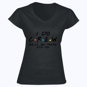 Friends Style - I Do Crew  - Softstyle™ women's v-neck t-shirt Thumbnail