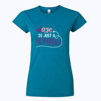 Age is just a number - Softstyle™ women's ringspun t-shirt Thumbnail