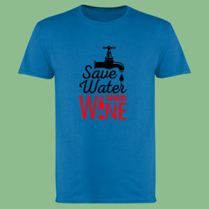 Save Water Drink Wine - Softstyle™ adult ringspun t-shirt Thumbnail
