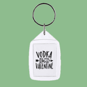 Vodka is my Valentine - Rectangle Smooth Edge Keyring Thumbnail