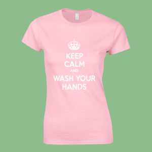 Keep Calm and Wash Your Hands - Softstyle™ women's ringspun t-shirt Thumbnail