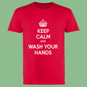 Keep Calm and Wash Your Hands - Softstyle™ adult ringspun t-shirt Thumbnail