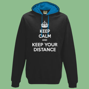 Keep Calm and Keep Your Distance - Varsity Hoodie Thumbnail
