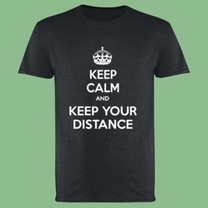 Keep Calm and Keep Your Distance - Softstyle™ adult ringspun t-shirt Thumbnail