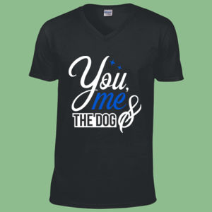 You Me And The Dog - Softstyle™ v-neck t-shirt Thumbnail