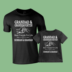 Customisable - Grandad Best Friends for life - Matching adult and baby tees Thumbnail