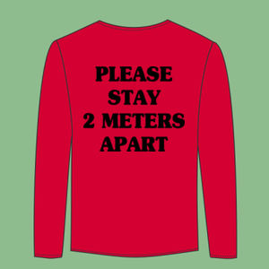 Please Stay 2 Meters Apart - Softstyle™ long sleeve t-shirt Thumbnail