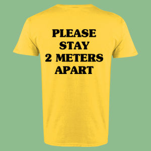 Please Stay 2 Meters Apart - Softstyle™ adult ringspun t-shirt Thumbnail