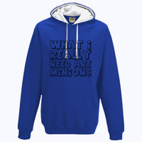 What I really need are minions - Varsity Hoodie Thumbnail