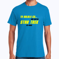 Star Trek Reruns - Heavy Cotton 100% Cotton T Shirt Thumbnail