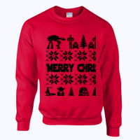 Star Wars Christmas Jumper - Heavy blend™ adult crew neck sweatshirt Thumbnail