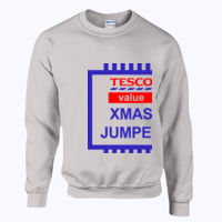 Tesco Xmas Jumper - Heavy blend™ adult crew neck sweatshirt Thumbnail