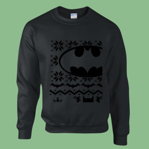 Batman Christmas Jumper - Heavy blend™ adult crew neck sweatshirt Thumbnail
