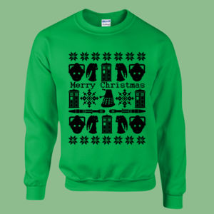 Doctor Who Christmas Jumper - Heavy blend™ adult crew neck sweatshirt Thumbnail