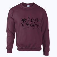 Merry Christmas Snowflake - Heavy blend™ adult crew neck sweatshirt Thumbnail