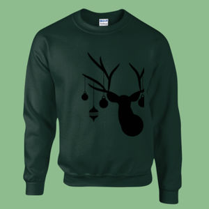 Christmas Deer - Heavy blend™ adult crew neck sweatshirt Thumbnail