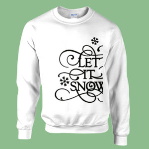 Let It Snow - Heavy blend™ adult crew neck sweatshirt Thumbnail