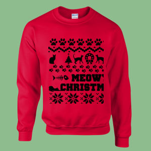 Meowy Christmas - Heavy blend™ adult crew neck sweatshirt Thumbnail