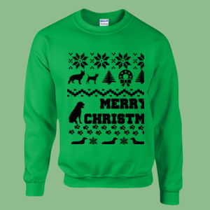 Doggy Christmas - Heavy blend™ adult crew neck sweatshirt Thumbnail