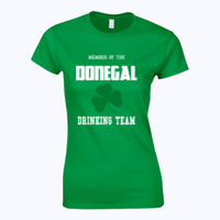 Customisable Drinking Team T-shirt - Softstyle™ women's ringspun t-shirt Thumbnail
