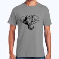 Elephant - Heavy Cotton 100% Cotton T Shirt Thumbnail