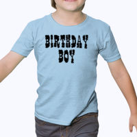 Birthday Boy Cowboy Style - Heavy cotton toddler t-shirt Thumbnail