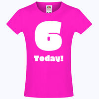 Customizable Childs Birthday T-shirt - Girls Sofspun® T Thumbnail