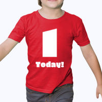 Customizable Childs Birthday T-shirt - Heavy cotton toddler t-shirt Thumbnail