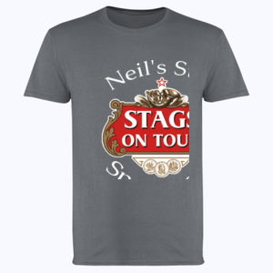 Stag's on Tour Customisable  - Softstyle™ adult ringspun t-shirt Thumbnail