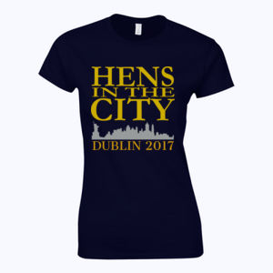 Hens In The City - Softstyle™ women's ringspun t-shirt Thumbnail