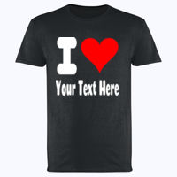 Custom I Heart Design - Softstyle™ adult ringspun t-shirt Thumbnail