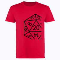 D20 Dice - Softstyle™ adult ringspun t-shirt Thumbnail