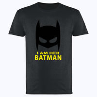 I am her Batman - Softstyle™ adult ringspun t-shirt Thumbnail