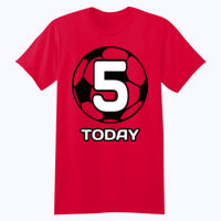 Customisable Football Birthday  - Softstyle™ youth ringspun t-shirt Thumbnail