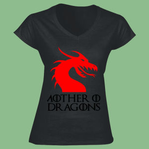 Mother Of Dragons - Softstyle™ women's v-neck t-shirt Thumbnail