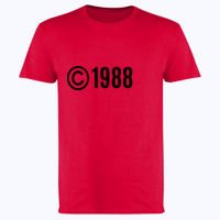 Customisable Copyright Birthdate - Softstyle™ adult ringspun t-shirt Thumbnail