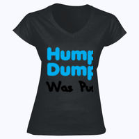 Humpty Dumpty Was Pushed - Softstyle™ women's v-neck t-shirt Thumbnail