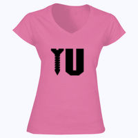Screw U - Softstyle™ women's v-neck t-shirt Thumbnail