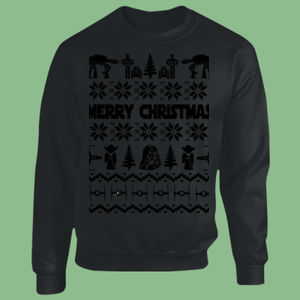 Star Wars Christmas Jumper - Heavy Blend™ youth crew neck sweatshirt Thumbnail